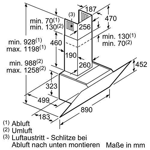 Neff D95IPP1N0 Dunstabzugshaube schräg N70 / 90cm / Abluft oder Umluft / EfficientDrive / TouchControl / Energieeffizienz A / Klarglas / schwarz - 6