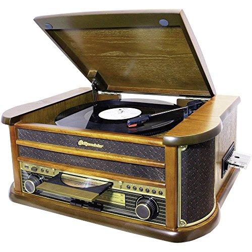 Roadstar HIF-1923TUMPK - equipo de sonido con reproductor de CD, cintas y discos de vinilo