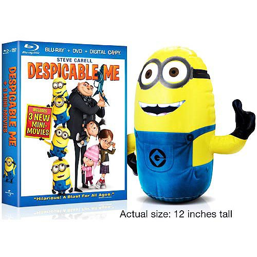 Despicable Me (Deluxe Blu-ray Combo Pack Gift Set with Inflatable Minion) [Blu-ray, DVD, Digital Copy]