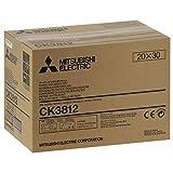 Mitsubishi Electric CK-3812 Gloss Papel para Impresora de inyección de Tinta (Brillo, 20 x 30 cm)