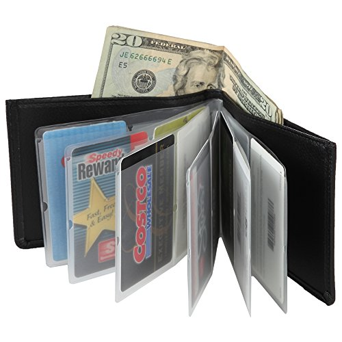 Home-X Leather Look RFID Bifold Wallet for Men or Women
