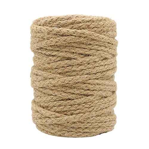 5mm Jute Twine, 100 Feet Braided Rope