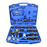 OIMERRY Universal Coolant Pressure Tester-Kit for Vehicles, 28PCS Automotive Vacuum Type Radiator Cooling System Pressure Tester with Blue Case