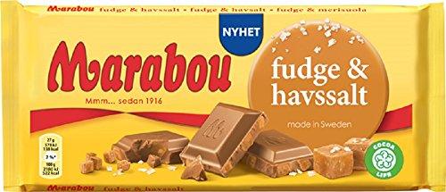 Marabou fudge & havsalt - Marabou mit Karamelfudge und Meersalz, 185g