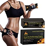 Hot Cream, Portable Workout Enhancer Sweat Cream, Fat Burning Cream for Women and Men, Slimming Cream for Weight Loss, Hot Gel Treatment for Shaping Waist, Abdomen and Buttocks(10 pack)