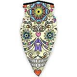 Hipiyoled Ilustración de Vector de Bufanda de Cuello Cráneo Abstracto Aislado en 9.5'X 20' en Bufanda de Cabeza mágica, Cara, pasamontañas, Banda de Sudor para Pesca, Yogur