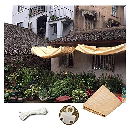 Retractable Roof Canopy, Outdoor Patio Pergola Gazebo Awning Sun Shade Sail Shading Net, Custom Size PENGFEI (Color : Beige, Size : 1.2x5M)