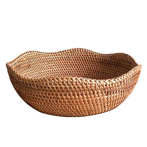 Full-size basket rustic style candy basket Wear-resistant/retro hand-woven basket egg basket outdoor picnic basket fruit basket wicker storage basket shopping basket bread basket