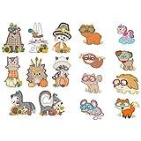 アニメの森の動物装飾ステッカーフレークシール手帳サンキューシールラベル ステッカー日記帳雑貨シール