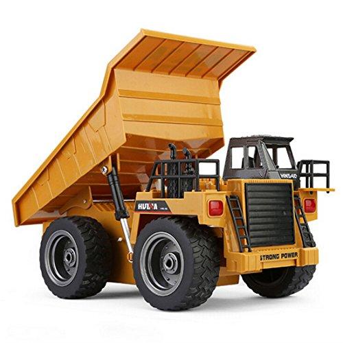 RC Auto kaufen Baufahrzeug Bild 2: LoKauf 1:18 6CH Dumper Kipper mit Fernbedienung RC Bagger Metall Ferngesteuert für Kinder*