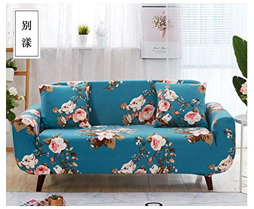 Allenger Funda de Fofá Elástica,Flower Pattern Stretch Sofa Cover, Universal Non-Slip Sofa Cover for All Seasons, Washable-3_235-300cm