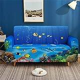 HXTSWGS Fundas de sofá para Perros,Funda de sofá 3D, Funda de sofá elástica elástica, Funda de sofá de 1/2/3/4 plazas, Fundas de sofá de 4 plazas 235-300cm_