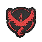 OYSTERBOY 3 x 3 inch Thread 100% Embroidered Tactical Decorative Applique Patch Pocketmon Go Gym Team Valor/Mystic/Instinct (Red - Valor) - Hook and Loop Backed