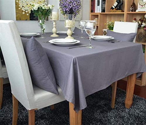 DreamZX Home Tablecloths Square Table cloth, Table Covers mat Tablecloth Dining Room Kitchen Oil Proof Waterproof Stain Resistant Mildew Proof Table Cover (Color : Gray, Size : 140 * 250CM)