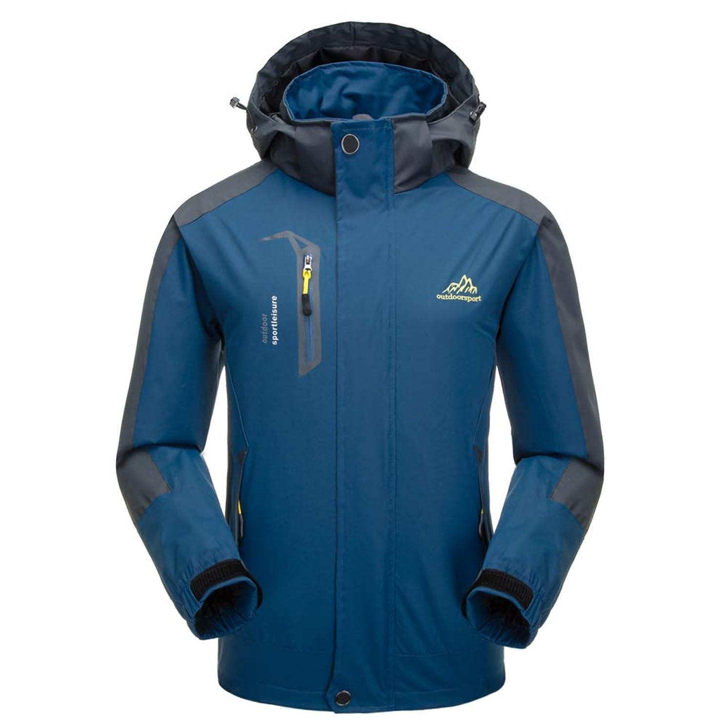 Farvalue Men's Rain Coat Spring Lightweight Casual Waterproof Windbreaker Breathable Jacket with Removable Hood