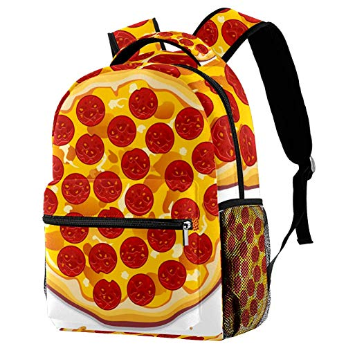 imobaby Kid Backpack Pizza With Pepperoni Slices Casual Daypack Large Travel Bags School Bookbags for Girl Boys Women