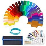 Neewer Kit Filtro Colorato per Illuminazione Fotografica Flash Speedlite–Trasparente per Correzione di Colore e Illuminazione in Plastica con Elastico di Montaggio da Studio