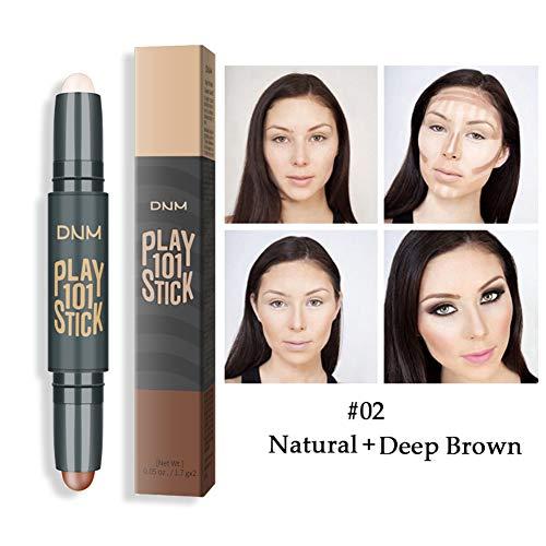 Allbesta 2-in-1 Concealer Contour Stick Contouring und Highlighter in einem Make-up Bronzer Stift
