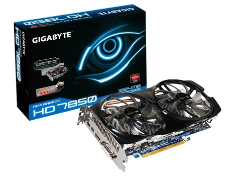 Gigabyte AMD Radeon HD 7850 1GB GDDR5 DVI/HDMI/2x Mini-Displayport PCI-Express 3.0 Crossfire Ready Graphics Card GV-R785OC-1GD
