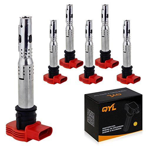 6Pcs Ignition Coil Pack Replacement for Volkswagen Touareg Porsche Audi A4 A5 A6 A7 A8 Q5 Q7 R8 S4 S5 S6 S8 C1631 UF529