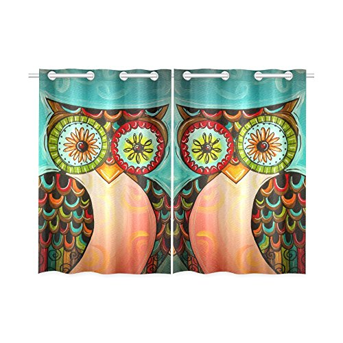Colorful Owl Curtains