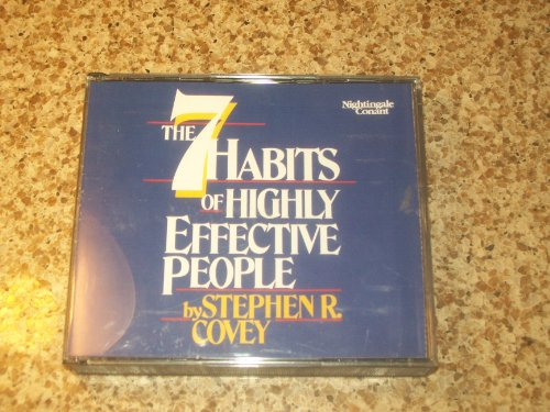 The 7 Habits of Highly Effective People - By Stephen R.covey
