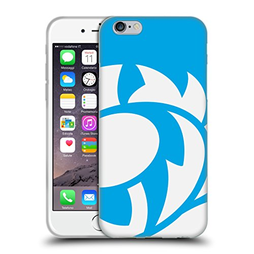 Head Case Designs Ufficiale Scotland Rugby Azzurro Cielo Cardo Smisurato Cover in Morbido Gel Compatibile con Apple iPhone 6 / iPhone 6s