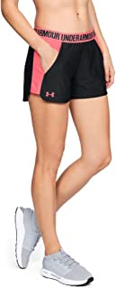 Under Armour Womens Play Up Short 2.0, Black/Black/Brilliance, X-Large