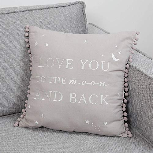 Bambino Linen Square Cushion Love You To The Moon & Back