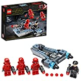 LEGO Star Wars, Coffret de bataille Sith Troopers avec speeder, Collection du film L'Ascension de Skywalker, 124 pièces, 75266