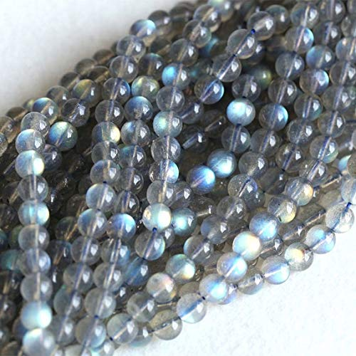 GEMS-WORLD BEADS GEMSTONE 1 Strands Natural Flash Light Dark Blue Labradorite Round Loose Gems Beads 6mm 16' 04129