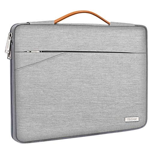 TECOOL Funda Portátil, Maletín Bolsa con Asa para 2010-2017 MacBook Air 13,3 Pulgada, 2012-2015 Macbook Pro 13 Retina, 13,5 Surface Laptop, ASUS Zenbook 14, Huawei Matebook D 14, Gris