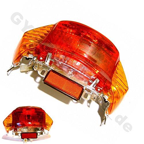 Rücklicht komplett (Blinker Orange) Benzhou YY50QT (City Star) China 4T