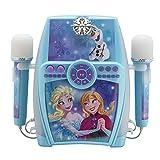 ekids FR de 615Disney Frozen Karaoke Equipo para niños con 2micrófonos eléctrica Azul