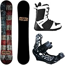 Camp Seven Drifter and APX Men's Complete Snowboard Package 2020 New