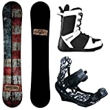 Camp Seven Drifter and APX Men's Complete Snowboard Package New (159 cm, Boot Size 10)