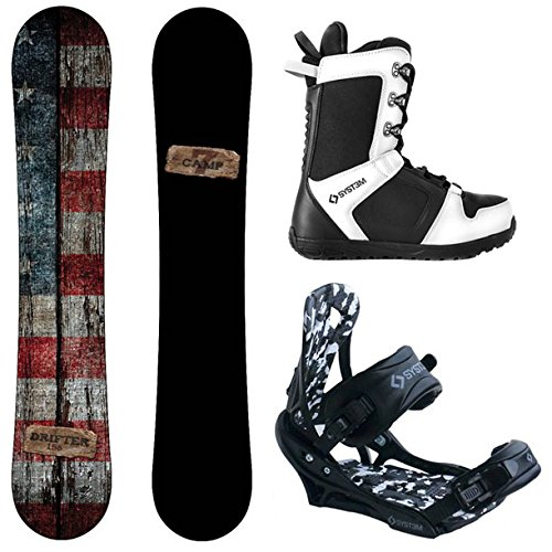 Camp Seven Drifter and APX Men's Complete Snowboard Package New (163 cm Wide, Boot Size 13)
