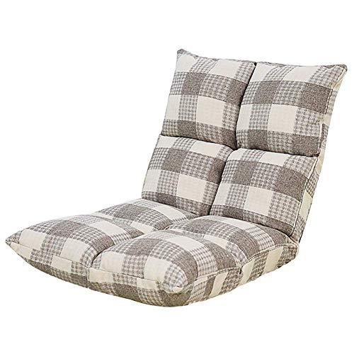 PIVFEDQX Lounge Sofa Cama Plegable Suelo Ajustable Tumbona Futón Colchón Asiento Silla, Gris-555552cm