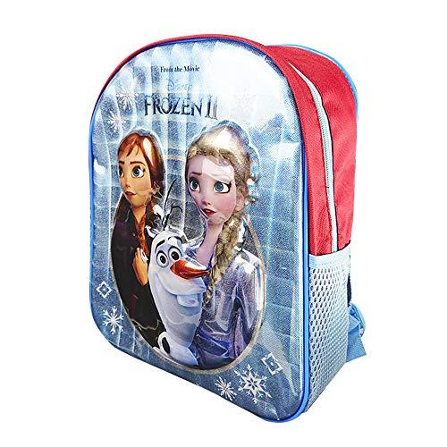 Mochila Escolar Infantil para Niñas Frozen, con los Personajes Disney Anna, Elsa y Olaf en 3D, Mochilas Disney Escolares Juveniles, Regalos para Niños