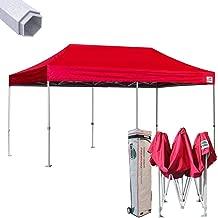 Eurmax Premium 10 x 20 EZ Pop up Canopy Tent Wedding Party Canopies Gazebo Shade Shelter Commercial Grade Bonus Wheeled Bag (Red)