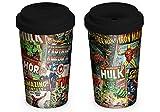 Marvel Retro MGT23763 Mug de Voyage, Céramique, Multicolor, 340 ML / 12 oz