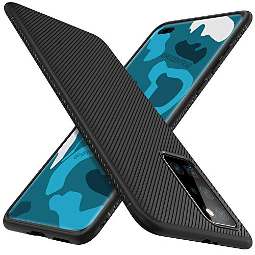iBetter für Huawei P40 Pro Hülle, Ultra Thin Silikon hülle Abdeckung Telefon Case Stoßfest Case Handyhülle Schutzhülle Shock Absorption Backcover passt für Huawei P40 Pro Smartphone,Schwarz