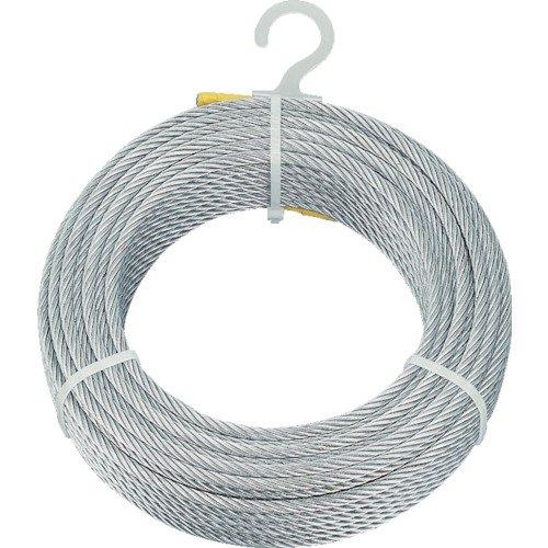 TRUSCO(トラスコ) メッキ付ワイヤロープ Φ4mm×100m CWM-4S100