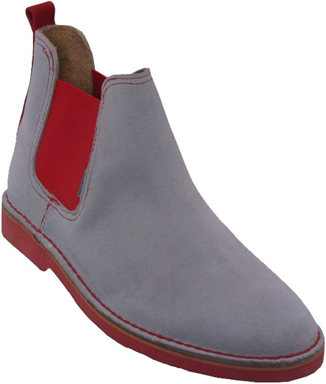 La Auténtica B324FP - Chelsea Boots, Unisex Adult, Light bluee - red