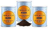 Café Saula, Pack 3 botes de 250 gr. Premium Descafeinado molido, 100% arábica.