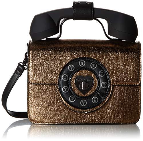Betsey Johnson Answer Me Phone Bag, gold