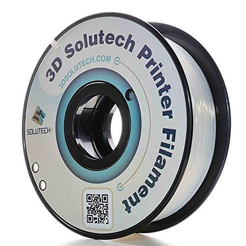 3D Solutech Natural Clear 1.75mm ABS 3D Printer Filament 2.2 LBS (1.0KG)