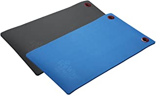 "Fitness First EcoWise Premium Exercise Workout Mats, 20"" x 48"" x 1/2"", Blue"