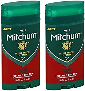 Mitchum Antiperspirant & Deodorant For Men - Invisible Solid - Intense Energy - Net Wt. 2.7 OZ (76 g) Per Stick - Pack of ...