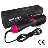 Qpzz Rizador de Pelo, El Cable de alimentación Giratorio de 360°.Cepillo de Pelo Caliente 3 configuraciones de Calor Peine de Pelo rizador Recto artefacto